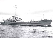 RV George B. Kelez underway in 1963
