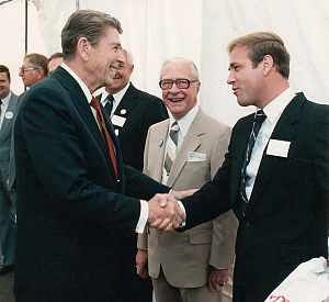 David A. Christian - David Christian meets with Ronald Reagan.
