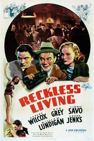 Reckless Living (1938 film) - Theatrical release poster