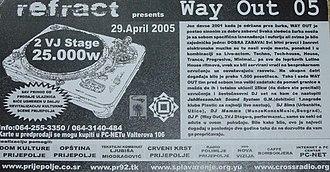 Prijepolje - Flyer from REFRACT festival in Prijepolje