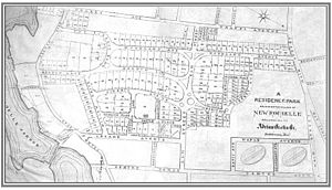 Residence Park (New Rochelle, New York) - Image: Residence Park development map, 1885 New Rochelle, New York