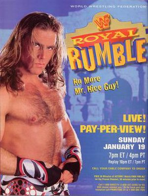 Royal Rumble (1997) - Promotional poster showcasing Shawn Michaels