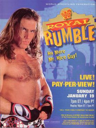 Royal Rumble (1997) - Promotional poster featuring Shawn Michaels