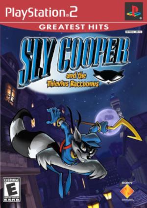 Sly Cooper and the Thievius Raccoonus - North American PlayStation 2 box art