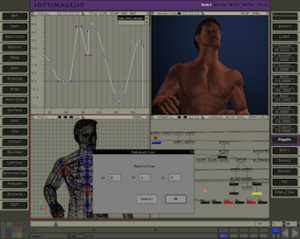 Softimage 3D - Image: Softimage 3D 3.9.2 Screenshot