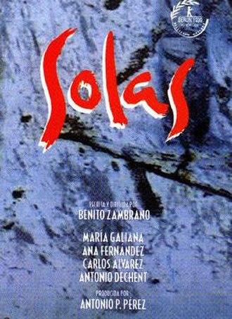 Solas (film) - Spanish film poster