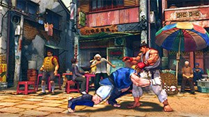 Street Fighter - Abel attacking Ryu in Street Fighter IV