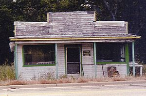 Stringtown, Oklahoma - The abandoned dance hall where Deputy Eugene C. Moore was shot and killed by the Barrow Gang in 1932