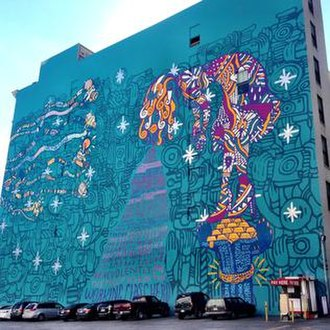 Supermodel (album) - The Supermodel mural, painted in promotion of the album, located in Los Angeles, California.