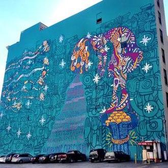Supermodel (album) - The Supermodel mural, painted in promotion of the album, located in Los Angeles, California.