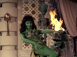 Susan Oliver as Vina transformed into an Orion slave girl, in the Star Trek episodes The Cage and The Menagerie