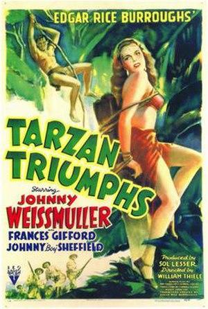 Tarzan Triumphs - Image: Tarzan Triumphs (movie poster)