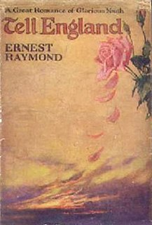 <i>Tell England</i> book by Ernest Raymond