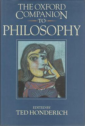 The Oxford Companion to Philosophy - Cover of the first edition, featuring Pablo Picasso's Portrait of Dora Maar