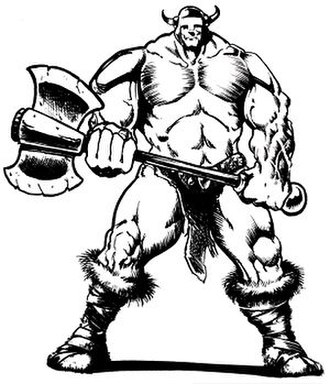 Thrud the Barbarian - Thrud from his origin story in the Thrud the Barbarian Graffik Novel and illustrating Critchlow's early inked style