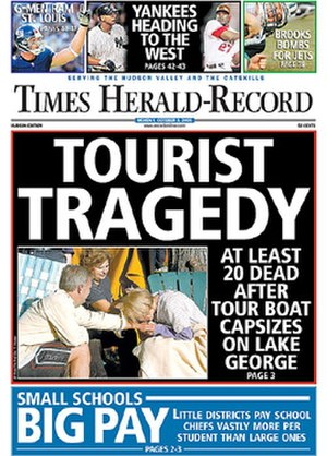 Times Herald-Record - Image: Times Herald Record cover 2005 10 03