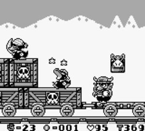 Wario Land: Super Mario Land 3 - Wario with the Bull Helmet power-up
