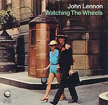 Image result for john lennon watching the wheels single images