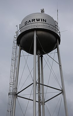 Darwin water tower