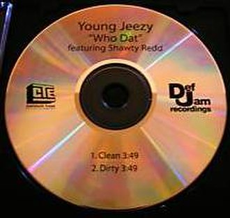 Who Dat (Young Jeezy song) - Image: Who Dat single