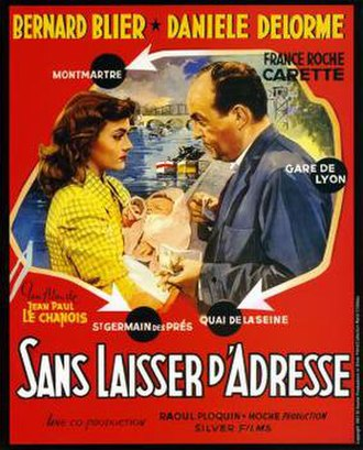 Without Leaving an Address - French film poster