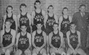 Oklahoma State Cowboys basketball - Image: 1945 Oklahoma A&M