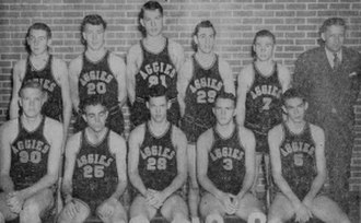 Oklahoma State Cowboys and Cowgirls - The 1945 championship basketball team.