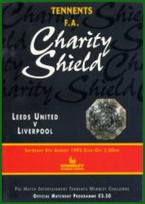 1992 FA Charity Shield - The match programme cover