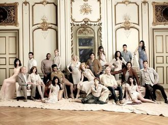 All My Children - The new cast of Prospect Park's All My Children revival. (l-r) Heather Roop, Ray MacDonnell, Jordi Vilasuso, Francesca James, Darnell Williams, Eric Nelsen, Debbi Morgan, Lindsay Hartley, Cady McClain, Jill Larson, Julia Barr, Vincent Irizarry, Denyse Tontz, David Canary, Sal Stowers, Robert Scott Wilson, Thorsten Kaye, Eden Riegel, Jordan Lane Price, and Ryan Bittle.