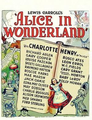Alice in Wonderland (1933 film) - Theatrical release poster