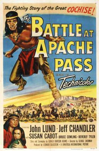 The Battle at Apache Pass - Film poster by Reynold Brown