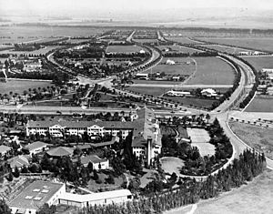 The Beverly Hills Hotel - Overlooking the back of the hotel and Beverly Hills in 1921