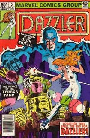 Blue Shield (comics) - Image: Blueshieldmu 0