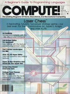 Compute! - The June 1987 issue, showing Laser Chess