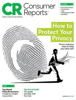 Consumer Reports Cover Dated November 2016