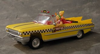 Crazy Taxi - Crazy Taxi GearHead RC car with Axel driving
