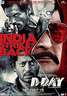 <i>D-Day</i> (2013 film) 2013 film directed by Nikhil Advani
