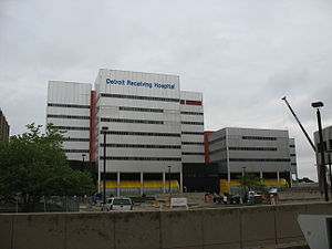 Detroit Receiving Hospital - Image: DRH from west
