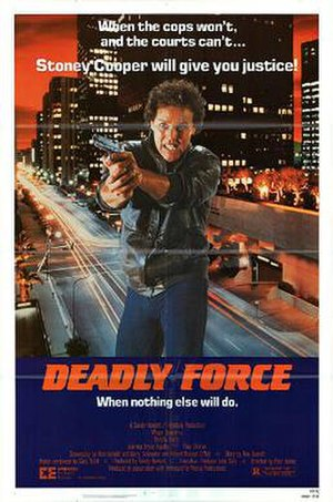 Deadly Force (film) - Theatrical release poster