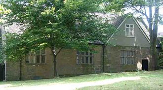 Old Grammar School, Derby - Photo showing the 15th century side view of the Old Tudor Hall in St. Peter's Church Yard