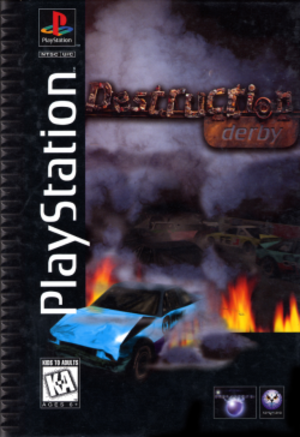 Destruction Derby - North American PlayStation box art