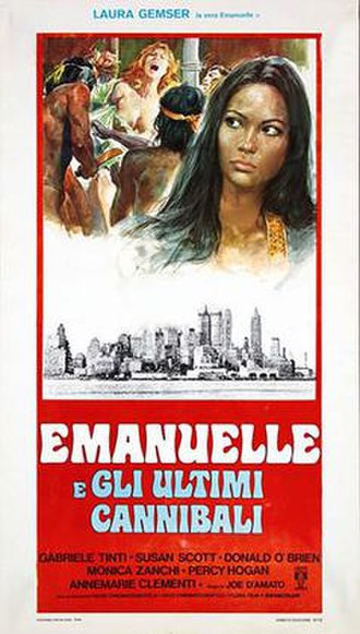 Emanuelle and the Last Cannibals - Italian theatrical release poster