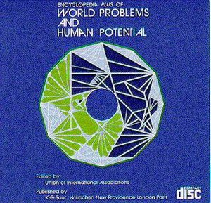Encyclopedia of World Problems and Human Potential -  Cover of the 1995 CD-ROM