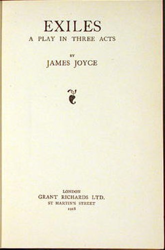 Exiles (play) - First edition of Exiles, 1918.
