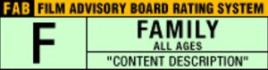 Film Advisory Board - F rating symbol