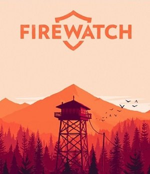 Firewatch - Artwork by Olly Moss, depicting a fire lookout in the Shoshone National Forest