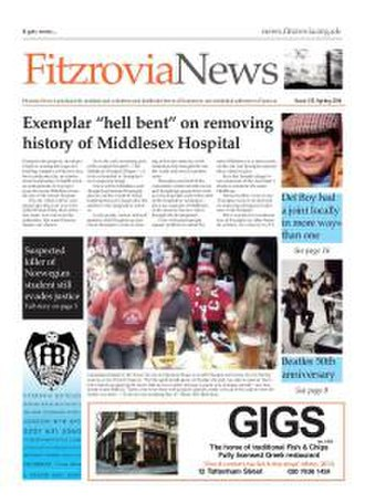 Fitzrovia News - Fitzrovia News front page from March 2014