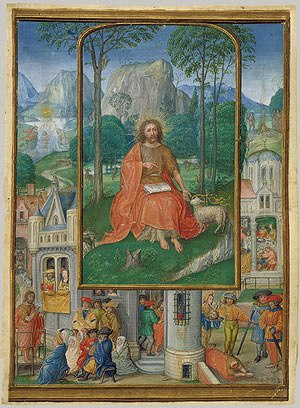 Gerard Horenbout - Saint John the Baptist, miniature attributed to Gerard Horenbout