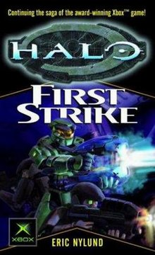 Cover shows two robot-like figures in bulky armor, one shining a spotlight and the other shooting a futuristic weapon