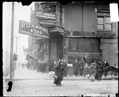 Little Italy in Chicago, 1909. HalstedLittleItalyChicago.jpg